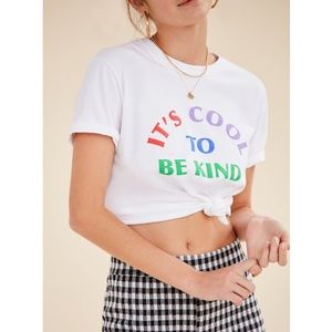 2bea86f1 Urban Outfitters Tops - Urban Outfitters 'It's Cool To Be Kind' Tee
